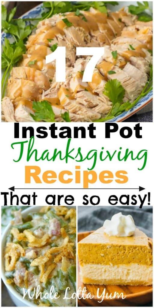 17 instant pot thanksgiving recipes