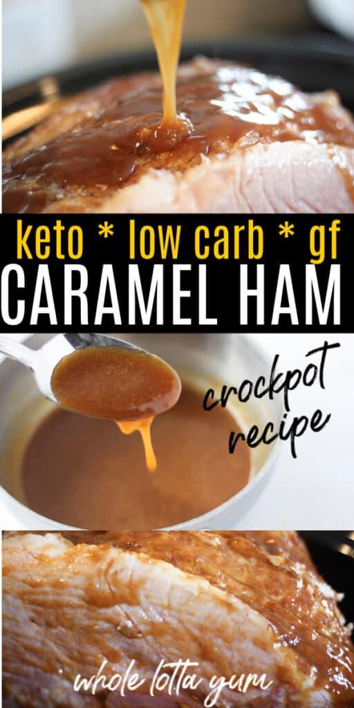 keto ham in crockpot with glaze