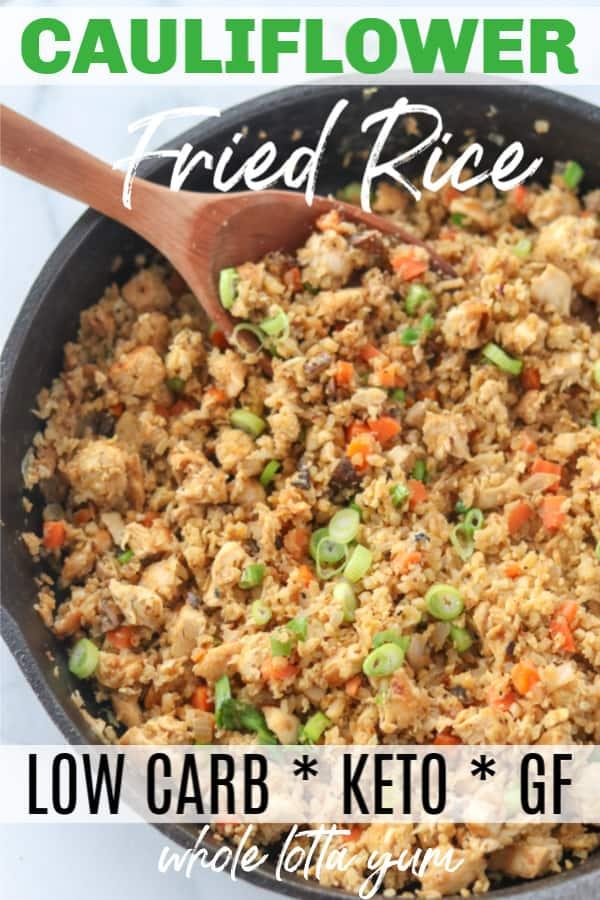 keto cauliflower fried rice with chicken