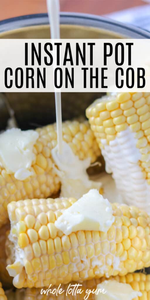 corn in in instant pot Pinterest pin