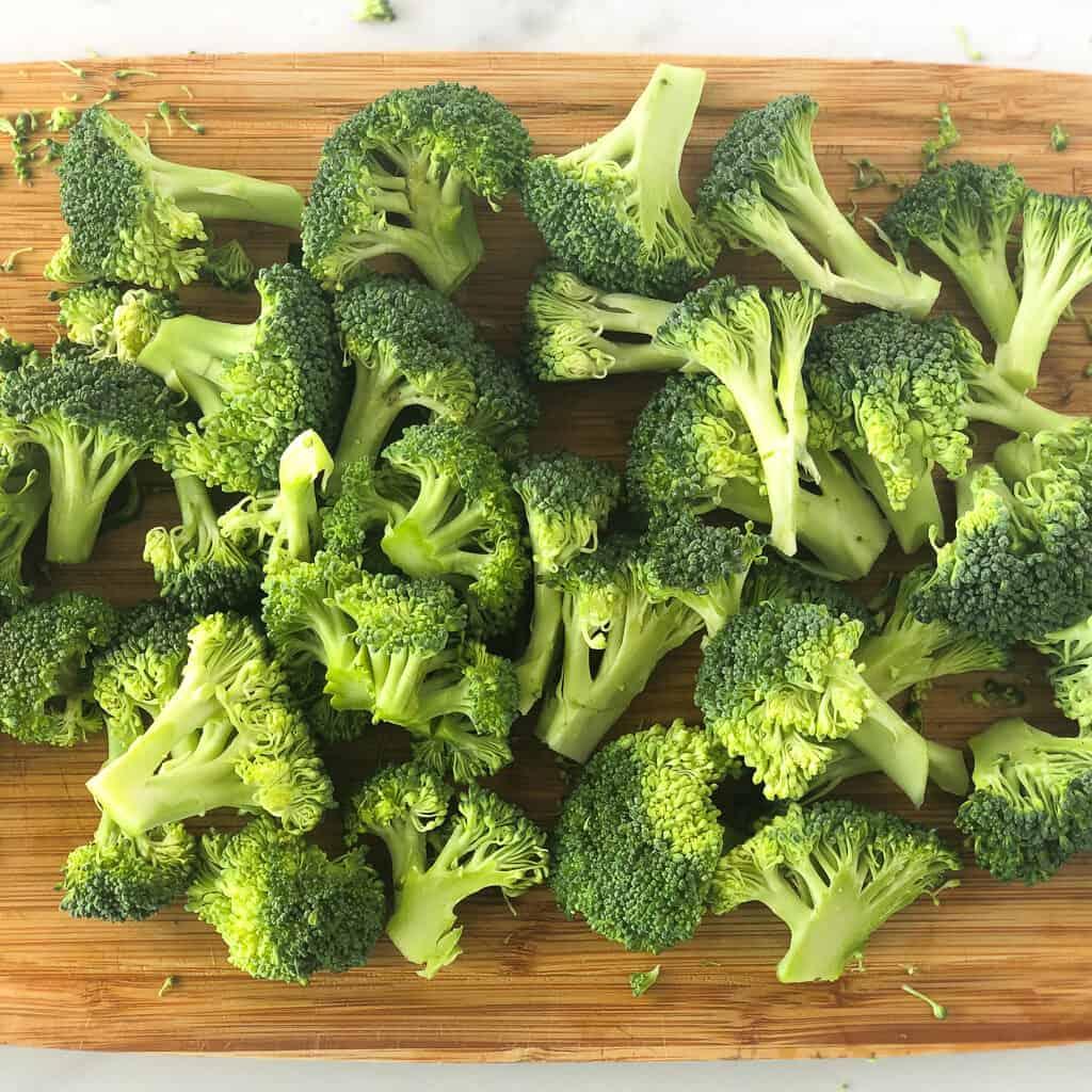 chopped broccoli for air fryer roasted broccoli