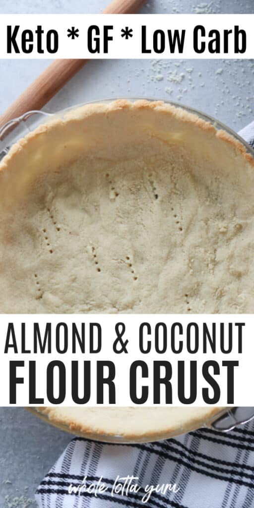 coconut flour pie crust keto recipe