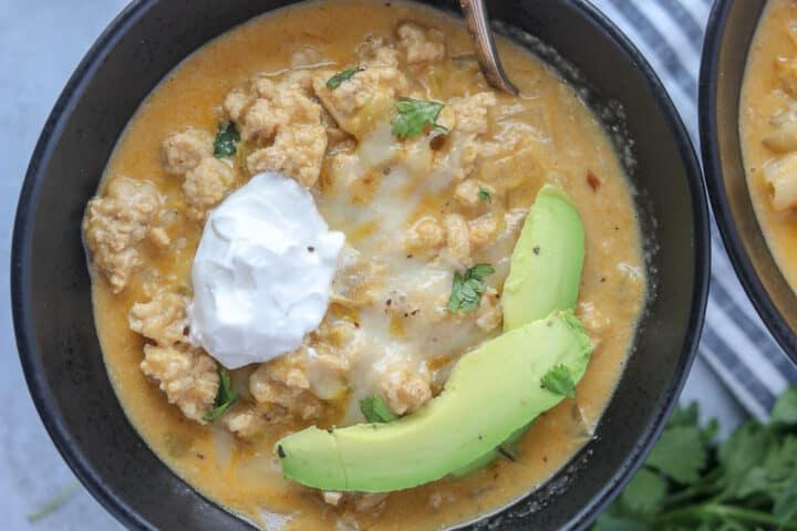 white chicken chili keto